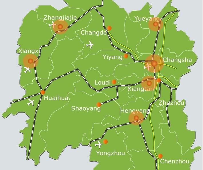 Hunan Maps-Map of Hunan, China - Hunan others - Zhangjiajie ... on