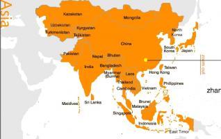 Zhangjiajie Map in Asia