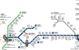 NANJING TO CHENGDU High-rail Train Travel Map(2016)
