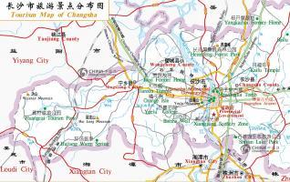 Hunan Changsha City Map