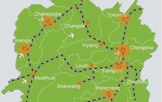 Hunan Maps-Map of Hunan, China