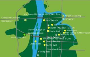Map of Changsha-Hunan maps
