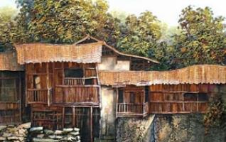Zhangjiajie Tujia Sticker Painting