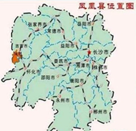 Fenghuang's Location in China