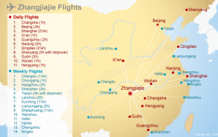 Zhangjiajie Airport Flight Map Information