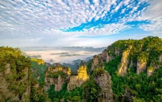 What is Zhangjiajie's sister World Geopark?