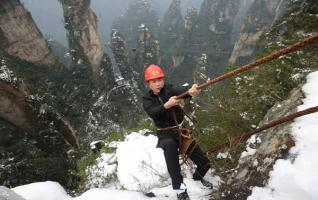 Zhangjiajie's 'Spider-Man' saving the world from litterbugs